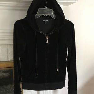 Black Label Black Velour Juicy Couture Zip Up